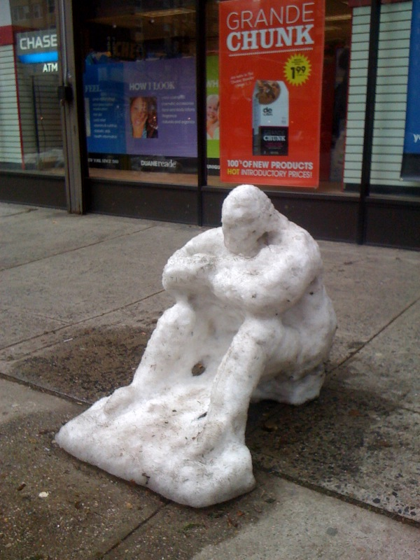 Snowman on 2nd Avenue - Christmas 2009